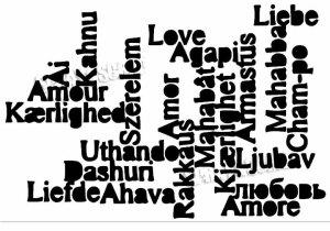 nuage de mot Amour