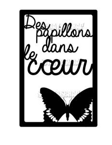 étiquette papillons