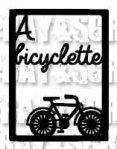 Etiquette bicyclette