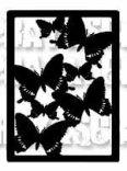 Etiquette envolée de papillons