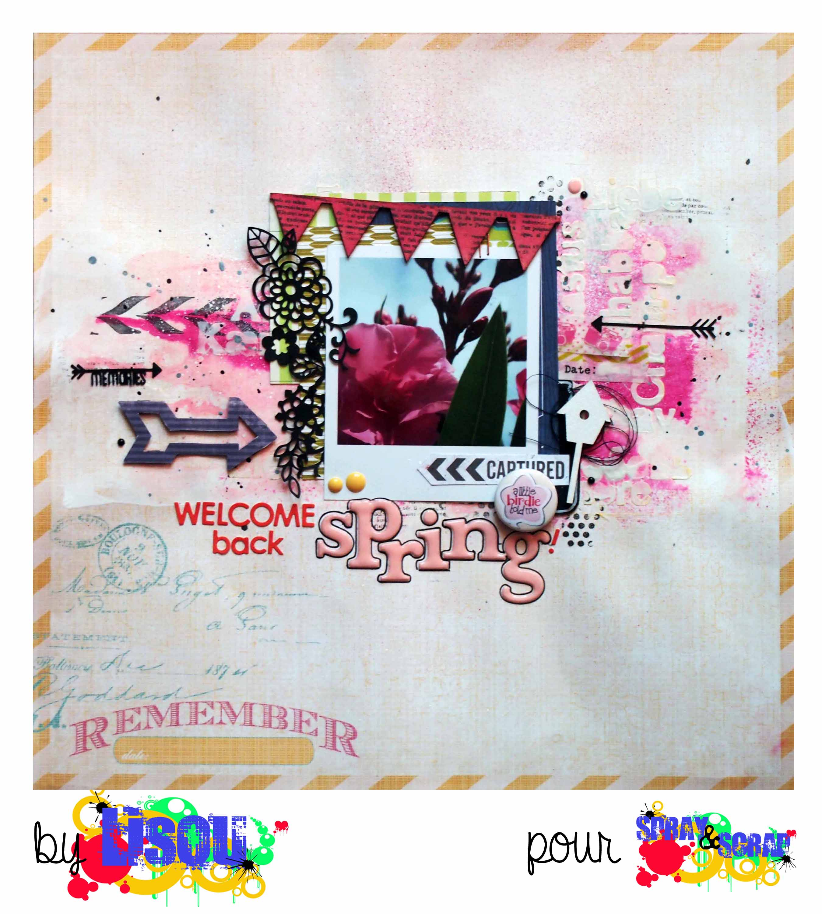 welcome back spring � lisou � spray amp scrap