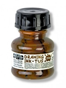 Brown drawing ink