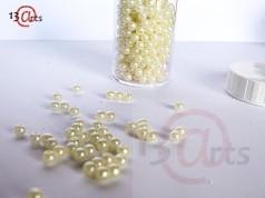 Perles décoratives - Crème