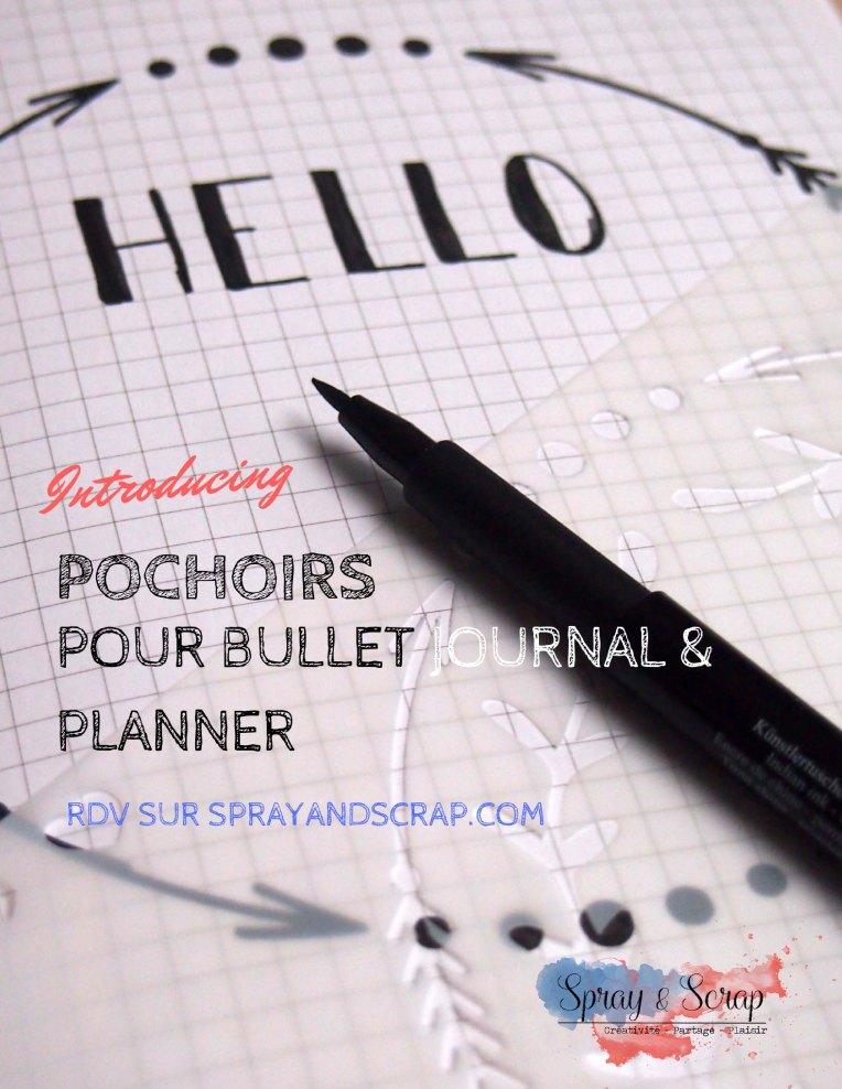 Pochoirs bullet journal et planner