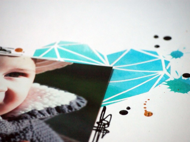 Spray & Scrap - coeur en origami