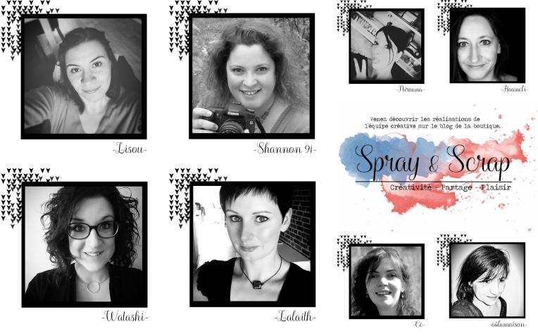 Equipe créative Spray & Scrap